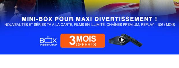 Videofutur LABox TNT-HD avril 2016 - 3 mois d'abonnement offerts sans engagement