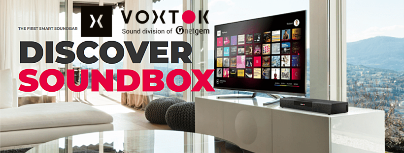 Soundbox Voxtok by Netgem 2018