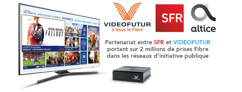 Partenariat entre @SFR et @Vitistv @VIDEOFUTUR portant sur 2 millions de prises #Fibre dans les #RIP